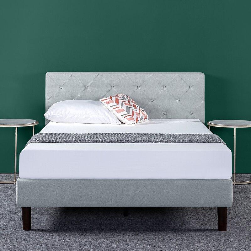 Agnese Tufted Upholstered Low Profile Platform Bed