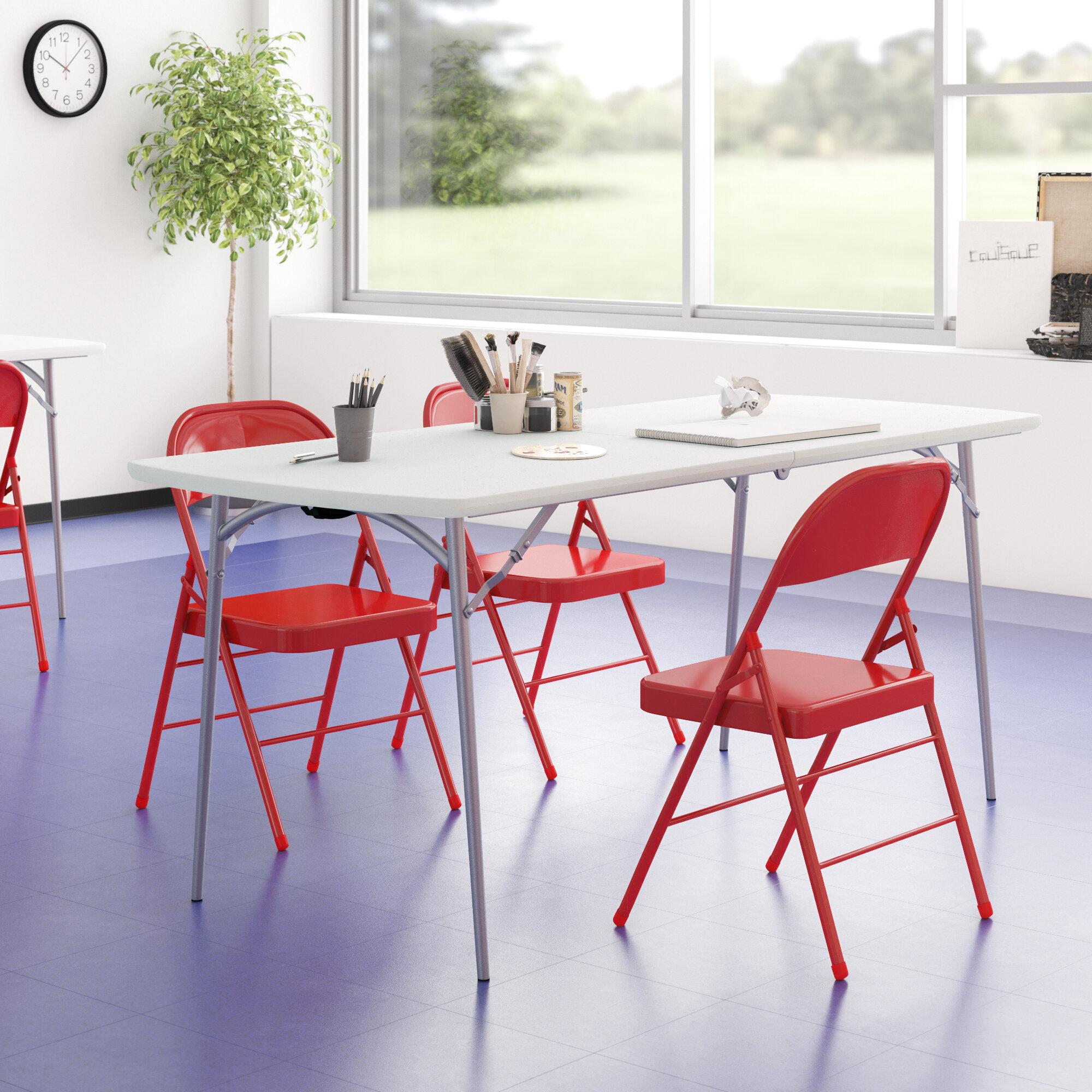 National Public Seating 71 8 Plastic Rectangular Portable Folding Table Reviews Wayfair