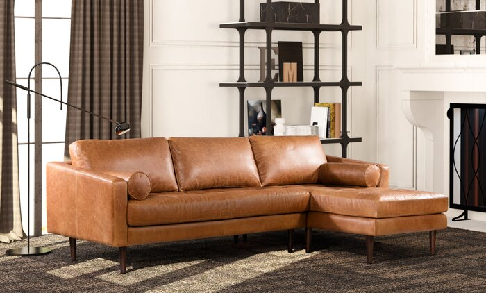 Pleasant Kate Leather Sectional Pabps2019 Chair Design Images Pabps2019Com