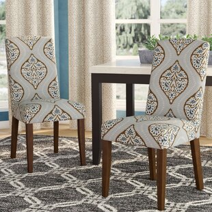Garside Back Parsons Upholstered Parsons Chair (Set of 2) By Red Barrel Studio