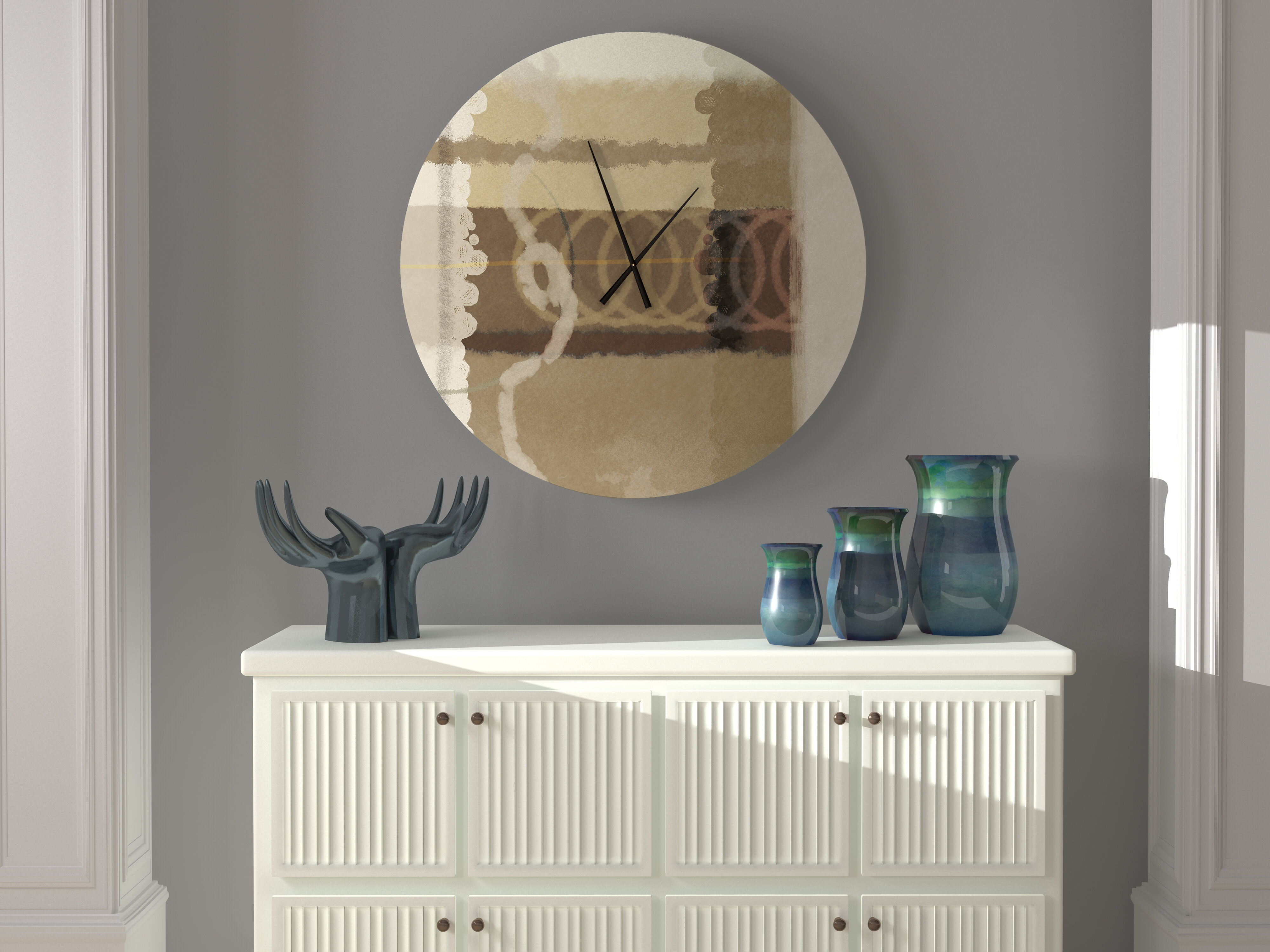 Latitude Run Whopping Sensible Abstract Metal Wall Clock Wayfair