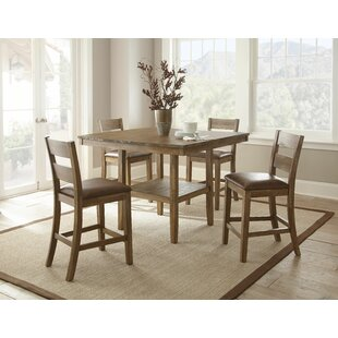 Achenbach 5 Piece Counter Height Dining Set Alcott Hill