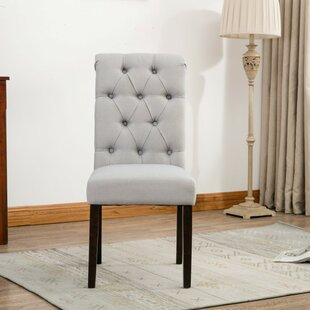 Alarik Button Tufted Upholstered Dining Chair (Set of 2)