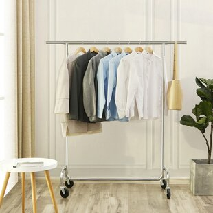 21.7 W Rolling Garment Rack Songmics