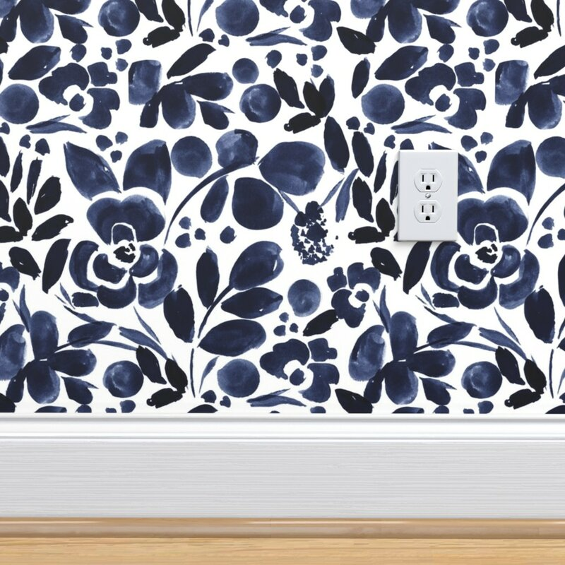 Spoonflower 1 L X 24 W Wallpaper Panel Wayfair