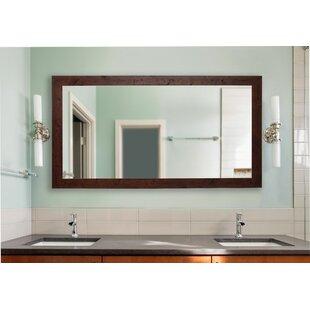 Rustic Dark Walnut Accent Mirror
