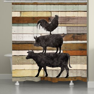 Bucoli Farmhouse Animals Shower Curtain