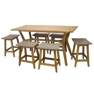 Quevedo 7 Piece Teak Dining Set