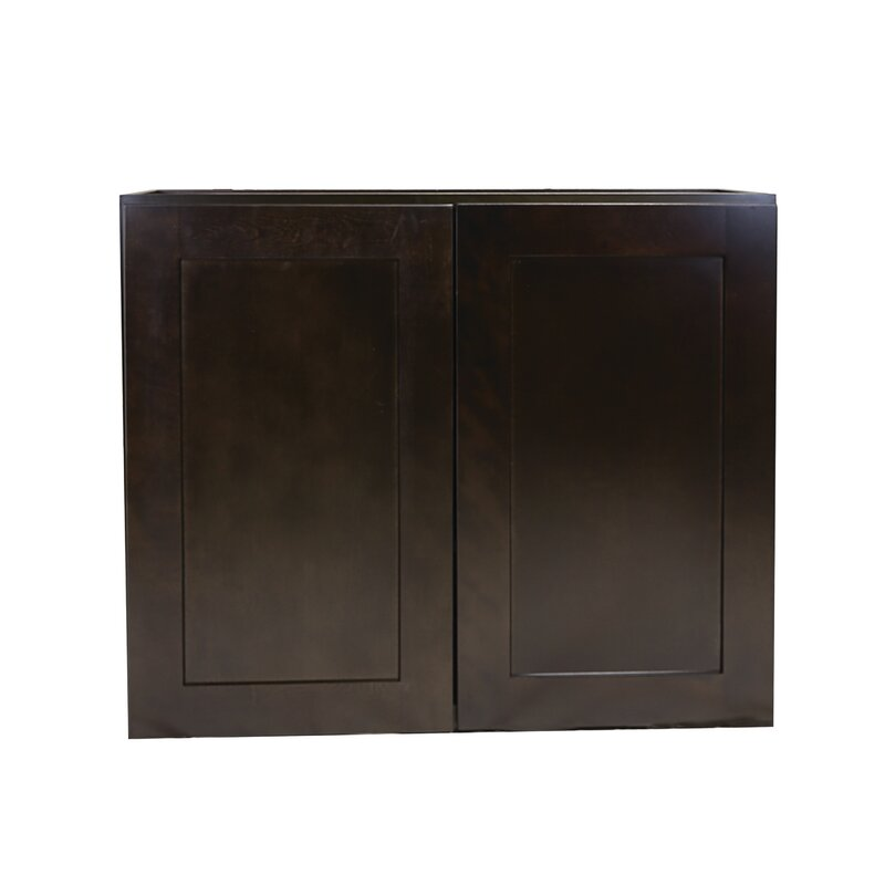 Ebern Designs Frits Fully Assembled 33x30x12 In Kitchen Wall Cabinet In White Wayfair