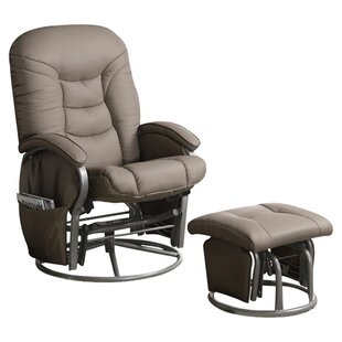 Quarles Manual Glider Recliner with Ottoman by Latitude Run