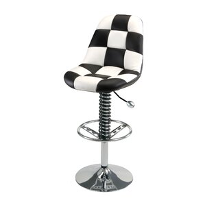 Racing Style Adjustable Height Swivel Bar Stool by PitStop Furniture