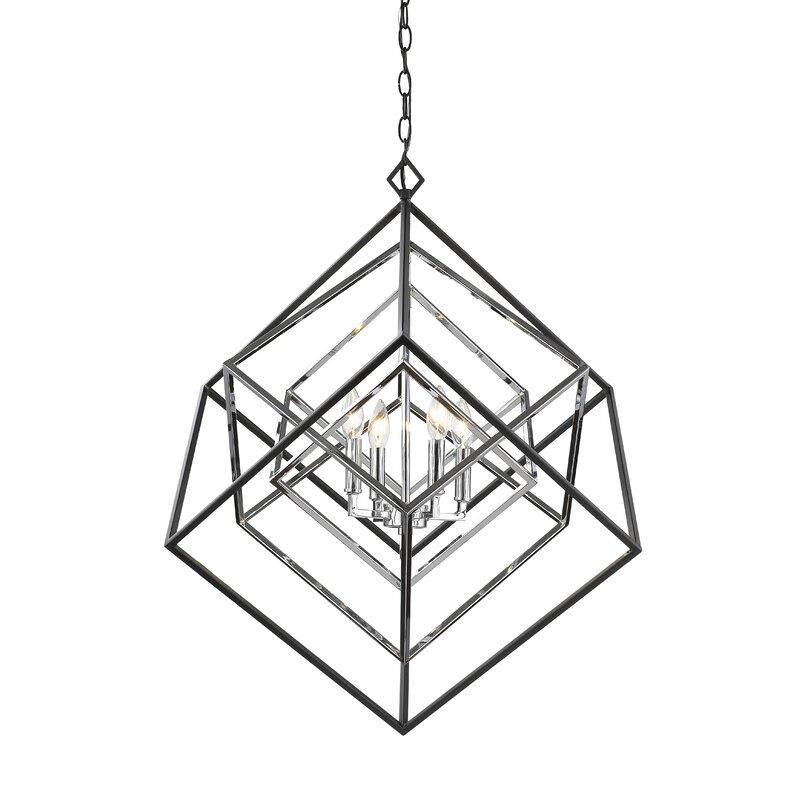 Brayden Studio Pederson 4 Light Geometric Chandelier