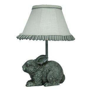 Bunny rabbit table lamps wayfair garden bunny 13 table lamp aloadofball Choice Image