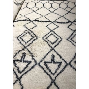 Affordable Price Genuine Fine Moroccan Hand-Woven Wool White Area Rug By Pasargad NY