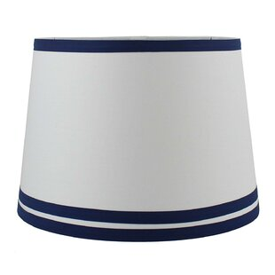 Double Trim 14 Cotton Drum Lamp Shade