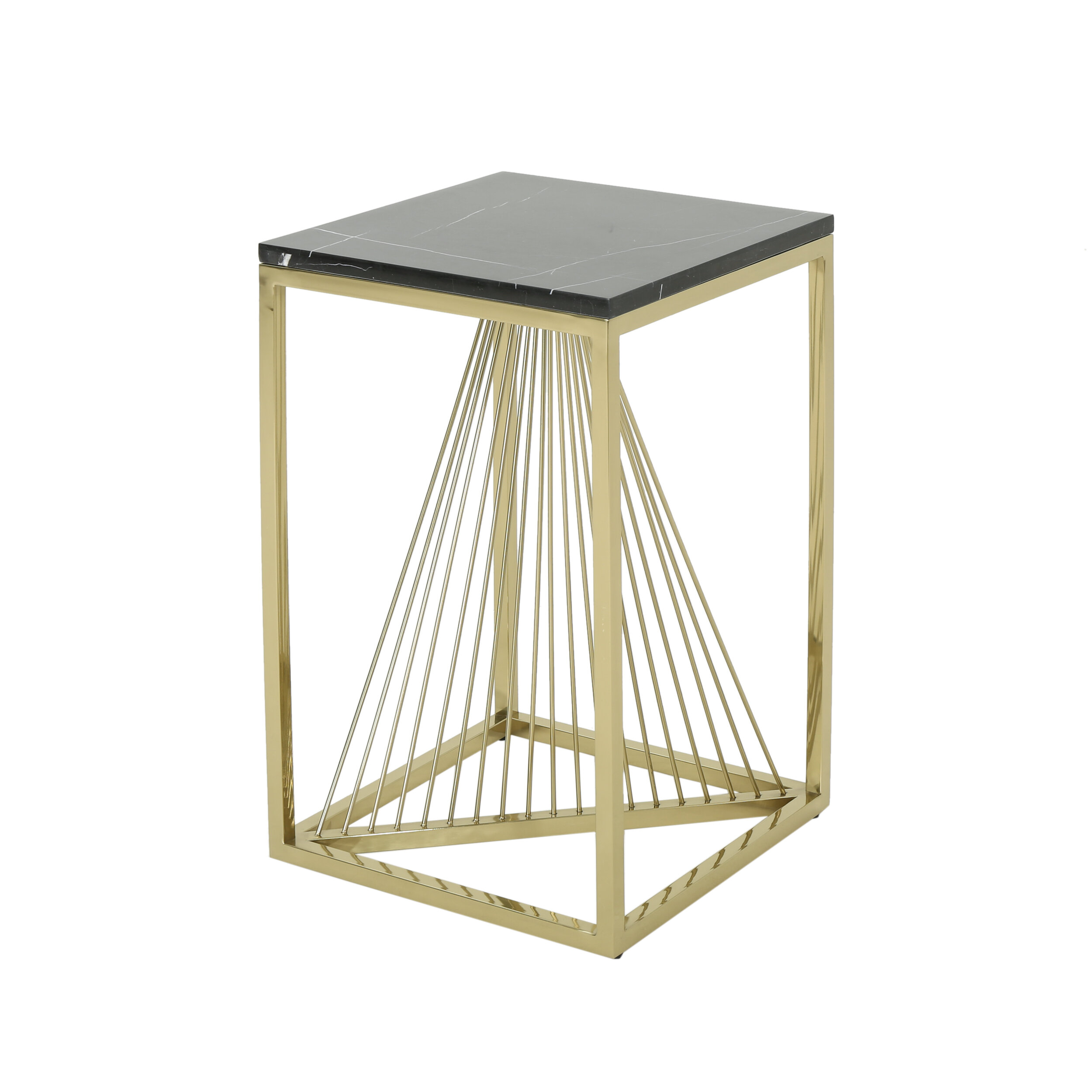 Picture of: Mercer41 Kyte Modern Faux Marble End Table Reviews