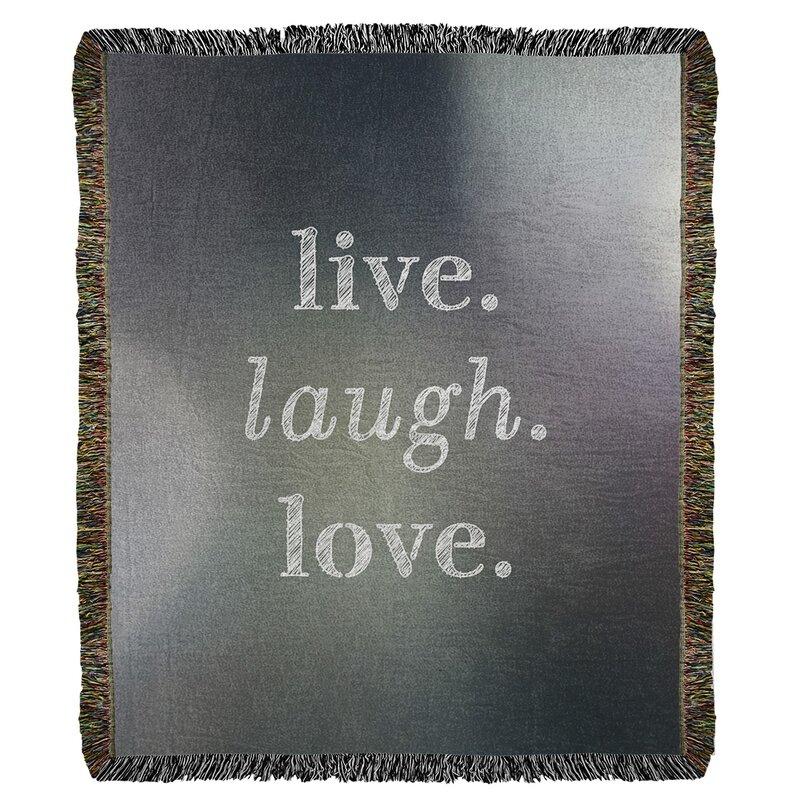 East Urban Home Live Laugh Love Cotton Throw Wayfair