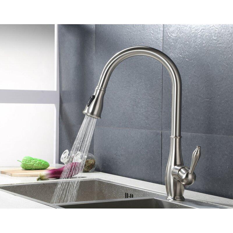 Ello Allo Pull Down Single Handle Kitchen Faucet Reviews Wayfair