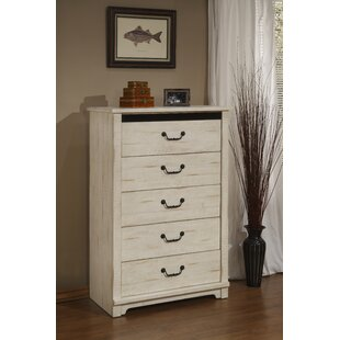 Solihull Farmhouse 5 Drawer Chest by Three Posts