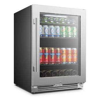 Azure Home Products 154 Can 24 Undercounter Beverage Refrigerator Wayfair