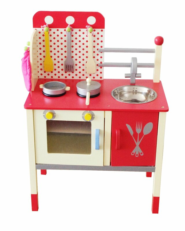 cute and fun wooden play kitchen