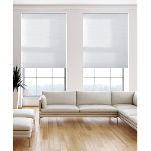 light filtering pure white cellular shade