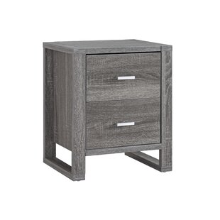 Stouferberg 2 Drawer Nightstand by Wrought Studio Cool