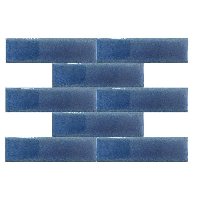 Signaturerattan Victorian Fireplace Tile 1 5 X 6 Ceramic Subway In Baby Blue Wayfair