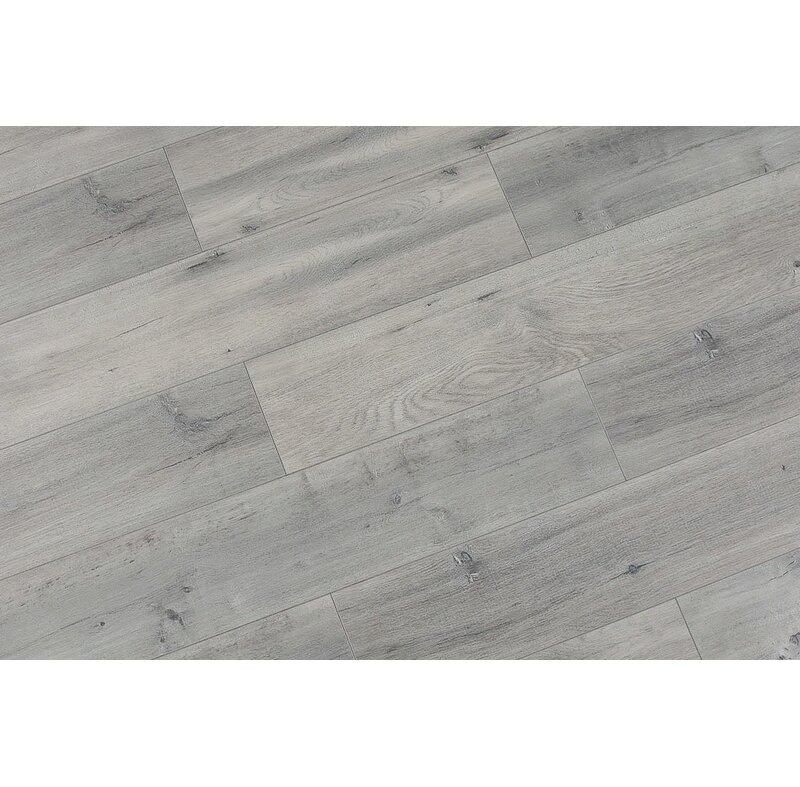 Serradon Trini 67 X 48 X 12mm Oak Laminate Flooring In Ultra Gray