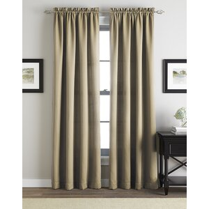 Alannah Twill Solid Semi-Sheer Rod Pocket Single Curtain Panel