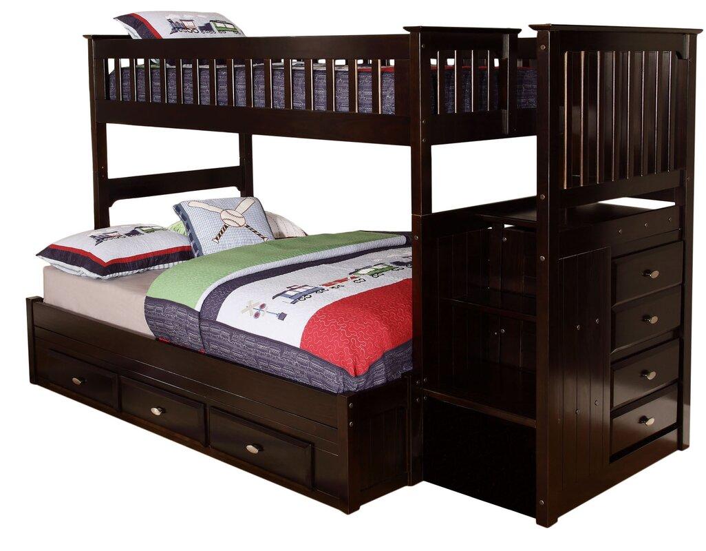 viv  rae kaitlyn twin over full bunk bed  reviews  wayfair - defaultname