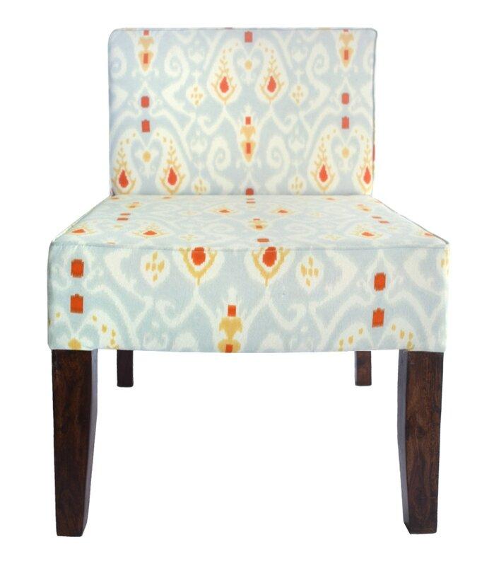 Merveilleux All Over Ikat Slipper Chair