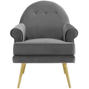 Shippy Tufted Button Accent Performance Velvet Armchair