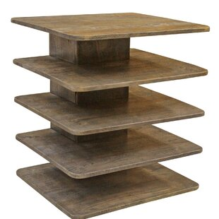 Brewington Mango Wood Tiered End Table