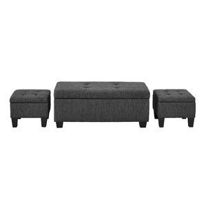 Hirsh 3 Piece Ottoman Set by Andover Mills