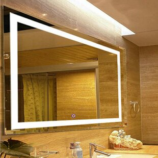 Inexpensive LED Lighted Vanity Wall Mirror By Fab Glass and Mirror