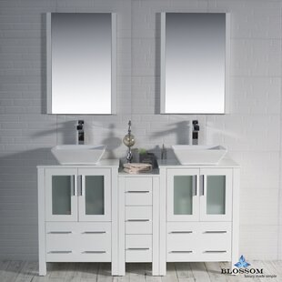 Mance 59 inch  Double Bathroom Vanity Set with Mirror