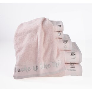 'I woke up like this' 6 Piece Cotton Towel Set