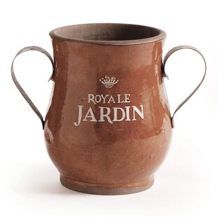 Adel Ceramic Urn With Metal Handles
