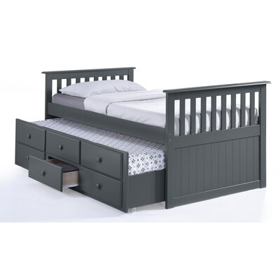 Broyhill® Marco Island Captain's Bed with Trundle Bed and Drawers Color: Gray, Size: Twin