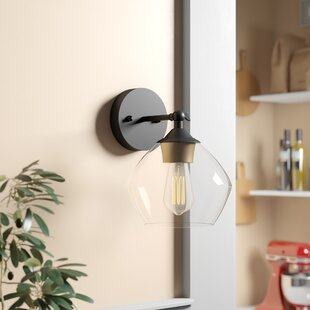 Aadi 1 - Light Dimmable Matte Black Armed Sconce