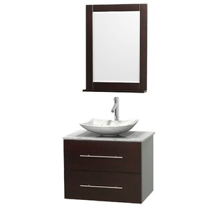 Centra 30 inch  Wall-Mounted Single Bathroom Vanity Set with Mirror