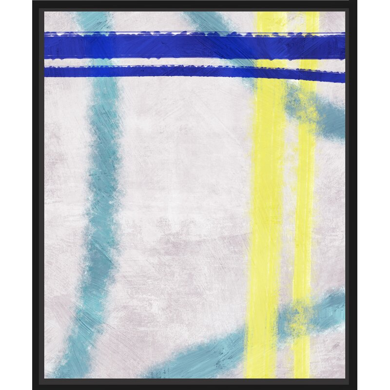 Ptm Images Colorful Lines Ii Floater Framed Painting Print On Wrapped Canvas Wayfair