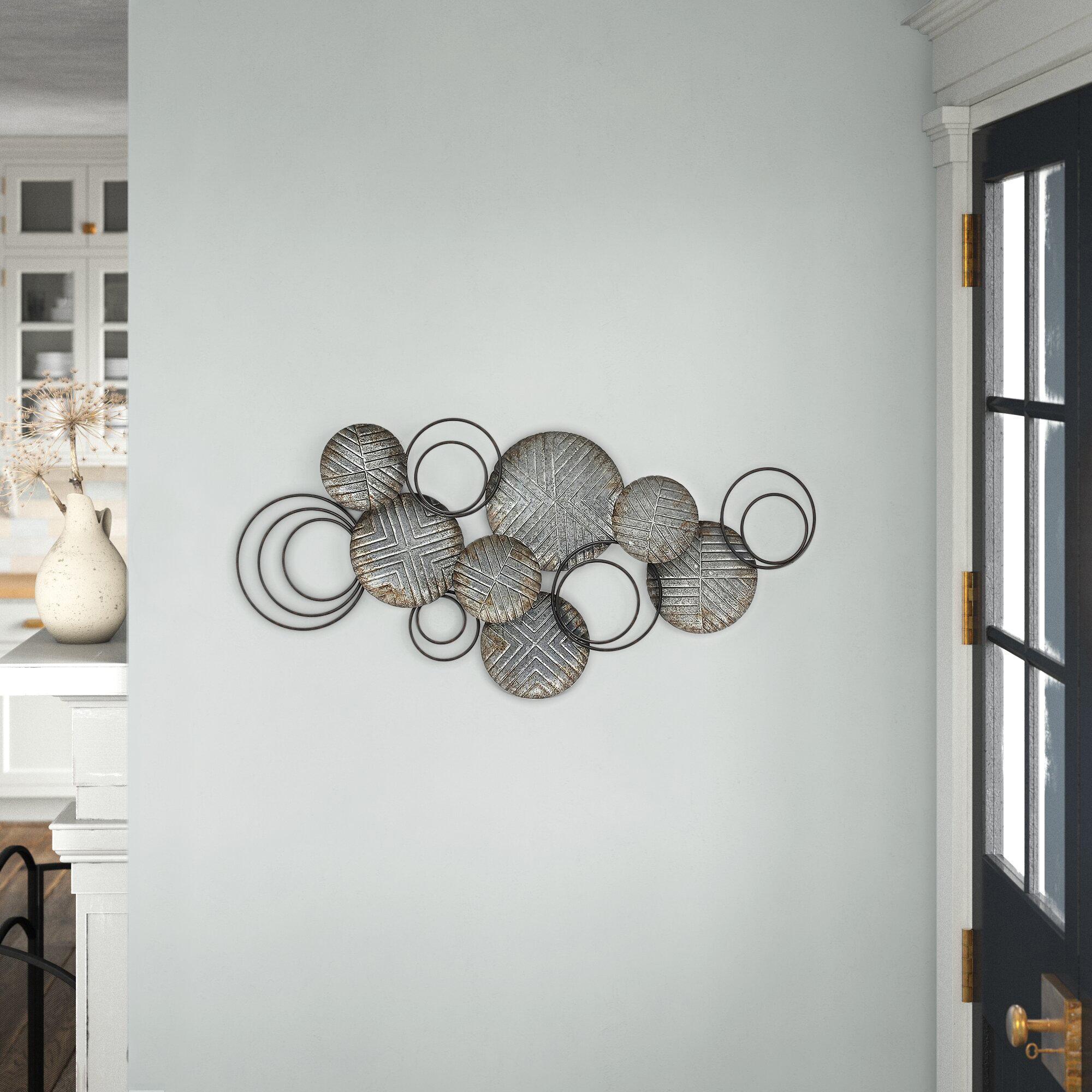 Galvanized Plates Wall Decor Reviews Birch Lane