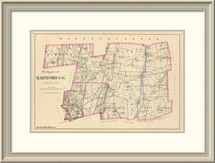 East Urban Home Connecticut Hartford County North 1893 Framed Print Wayfair