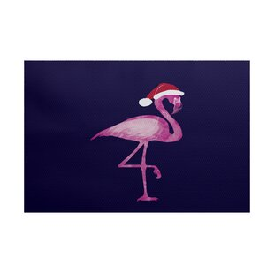 Savings Snow Bird Navy Blue/Pink Indoor/Outdoor Area Rug By The Holiday Aisle