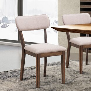 Rowling Cotton Upholstered Parsons Chair in Beige by Gracie Oaks