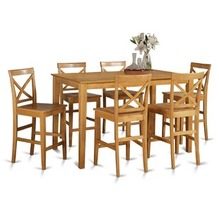 Smyrna 7 Piece Counter Height Pub Table Set by Charlton Home Today Sale Only