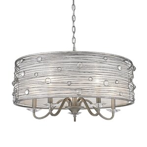 Hermione 5-Light Drum Chandelier  sc 1 st  Wayfair : drum chandelier lighting - azcodes.com