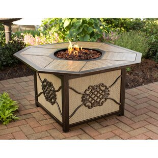 Heritage Aluminum Propane Fire Pit Table by Oakland Living Amazing